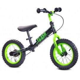 Detské odrážadlo bicykel TOYZ FLASH - čierno-zelený