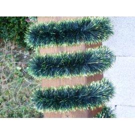 Vianočná girlanda - zeleno-svetlozelená - 6 m dlhá s Ø 7cm