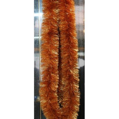 Vianočná girlanda - zlatá - 6 m dlhá s Ø 5cm