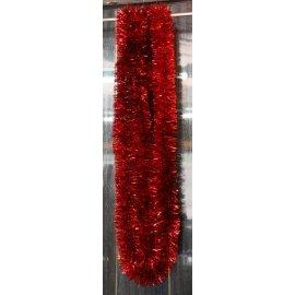 Vianočná girlanda - červená - 6m dlhá s Ø 2cm