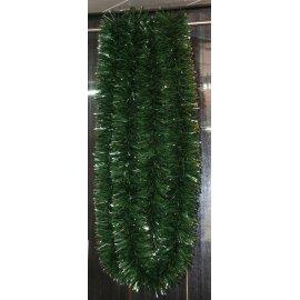 Girlanda - zeleno-strieborná - 6m dlhá s Ø 15cm
