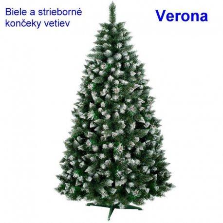 Vianočný stromček Verona - biele konce - 120cm