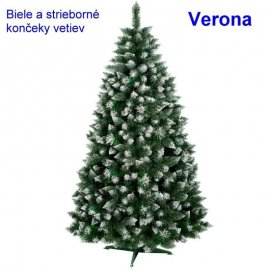 Vianočný stromček Verona - biele konce - 220cm